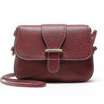Solid Color Crossbody Bags - RED