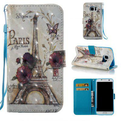 35 Towers 3D Painted Pu Phone Case for Samsung Galaxy S7 Edge