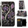 Peacock Flower 3D Painted Pu Phone Case for Samsung Galaxy S7 Edge - COLORMIX