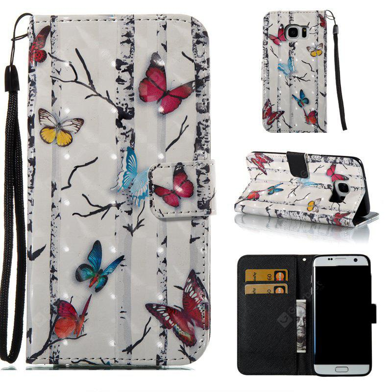 Butterflies 3D Painted Pu Phone Case for Samsung Galaxy S7 Edge