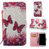 Rose Butterfly 3D Painted Pu Phone Case for Samsung Galaxy S7 Edge - COLORMIX