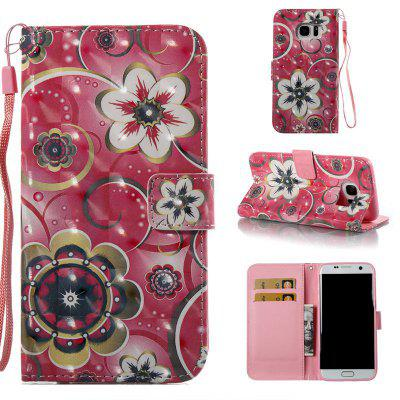 Tulip Flower 3D Painted Pu Phone Case for Samsung Galaxy S7 Edge