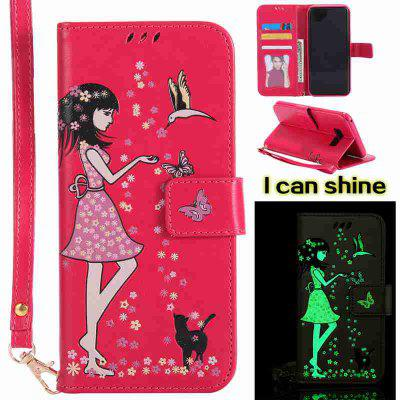 Buy TUTTI FRUTTI Women Cat Luminous Painted Pu Phone Case for Samsung S8 Plus for $7.31 in GearBest store