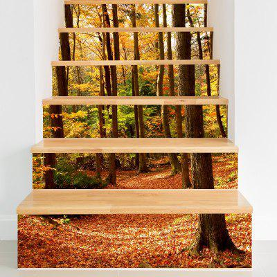 Fall Forest Style Stair Sticker Wall Decor
