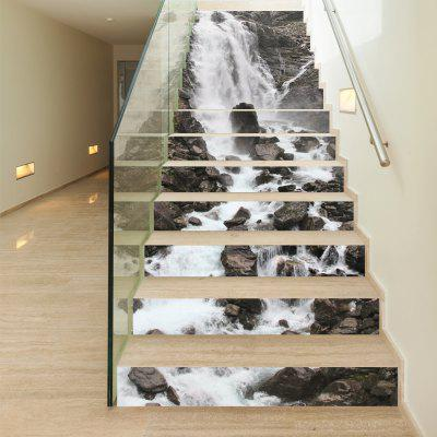 Waterfall Style 13 Pieces Stair Sticker Wall DecorWall Stickers<br>Waterfall Style 13 Pieces Stair Sticker Wall Decor<br><br>Brand: DSU<br>Function: Decorative Wall Sticker<br>Material: Self-adhesive Plastic<br>Package Contents: 13 x Stair Sticker<br>Package size (L x W x H): 20.00 x 3.40 x 3.40 cm / 7.87 x 1.34 x 1.34 inches<br>Package weight: 0.7900 kg<br>Product size (L x W x H): 18.00 x 100.00 x 13.00 cm / 7.09 x 39.37 x 5.12 inches<br>Product weight: 0.7500 kg<br>Quantity: 1<br>Subjects: Fashion,Cute,Flower,Famous,Landscape,Still Life<br>Suitable Space: Living Room,Hotel,Cafes,Hallway<br>Type: Plane Wall Sticker