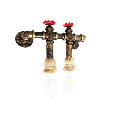 Brightness Retro Water Pipe 110 - 120V Wall LightWall Lights<br>Brightness Retro Water Pipe 110 - 120V Wall Light<br><br>Bulb Base: E26,E27<br>Bulb Included: No<br>Fixture Material: Metal<br>Number of Bulbs: 2<br>Package Contents: 1 x Light, 1 x Assembly Part<br>Package size (L x W x H): 38.00 x 20.00 x 15.00 cm / 14.96 x 7.87 x 5.91 inches<br>Package weight: 1.5000 kg<br>Power Supply: 110 - 240V/50 - 60Hz<br>Production Mode: Self-produce<br>Selling Point: Mini Style<br>Style: Antique, Rustic Lodge, Vintage, Vintage antique<br>Type: Wall Sconces<br>Voltage: 110 - 120V<br>Wattage: 120W<br>Wattage per Bulb ( W ): 60