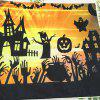 Happy Halloween Pumpkin Square Linen Decorative Throw Pillow Cushion Cover - COLORFUL