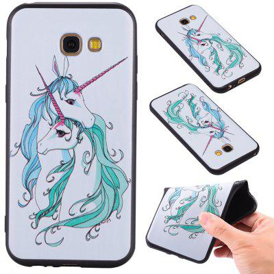 3D Embossed Color Pattern TPU Soft Back Case for Samsung Galaxy A5 2017