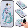 3D Embossed Color Pattern TPU Soft Back Case for Samsung Galaxy A5 2017 - WHITE