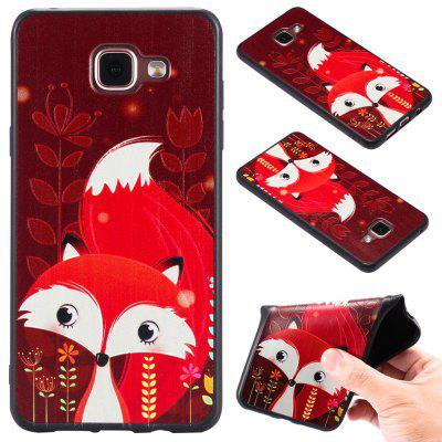 3D Embossed Color Pattern TPU Soft Back Case for Samsung Galaxy A5 2016