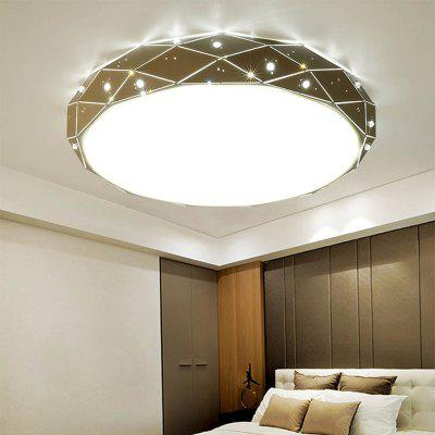 Jueja 36W 25 inch Round LED Ceiling Light Romantic Modern Simple American Style for Living Room Bedroom Indoor Lighting