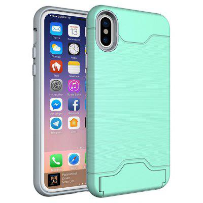 Pc + Tpu Shock-Proof Protection Back Cases W/ Card Slots / Stand for Iphone x