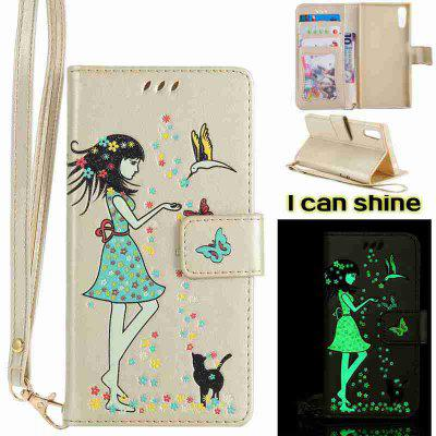 Buy MARIGOLD Women Cat Luminous Painted Pu Phone Case for Sony Xz for $7.10 in GearBest store