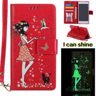 Buy AMERICAN BEAUTY Women Cat Luminous Painted Pu Phone Case for Sony Z5 for $7.11 in GearBest store
