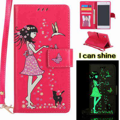 Buy TUTTI FRUTTI Women Cat Luminous Painted Pu Phone Case for Sony Z5 for $7.11 in GearBest store