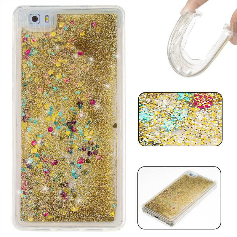 GOLDEN Pure Color Tpu Quicksand Phone Case for Huawei P8 Lite