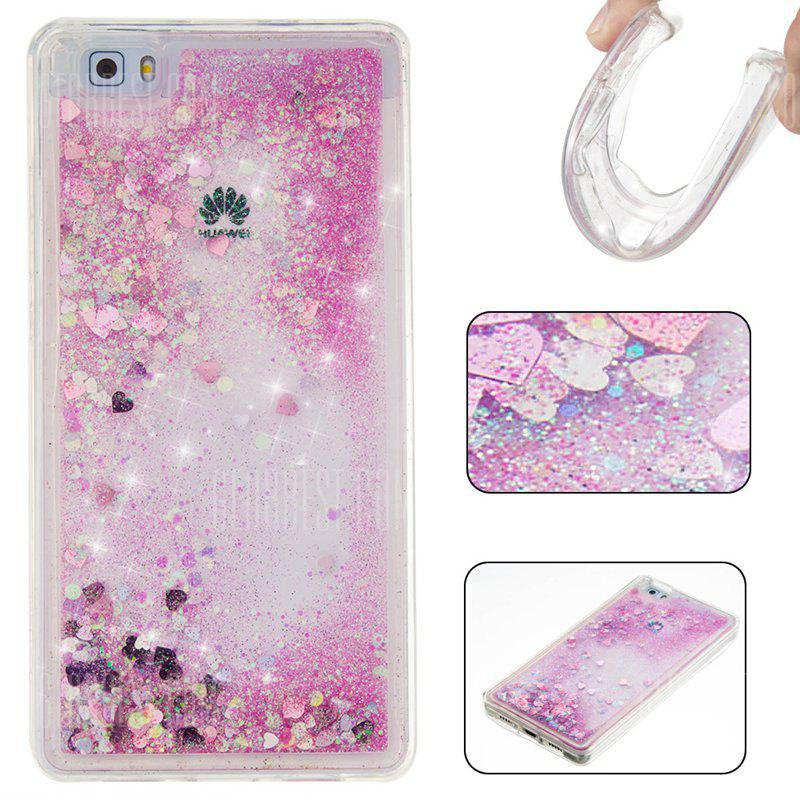 PINK Pure Color Tpu Quicksand Phone Case for Huawei P8 Lite