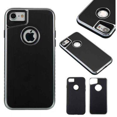 Two-In-One Tpu + Aluminum Alloy Plating Scrub Phone Case for Iphone 7 Iphone 8
