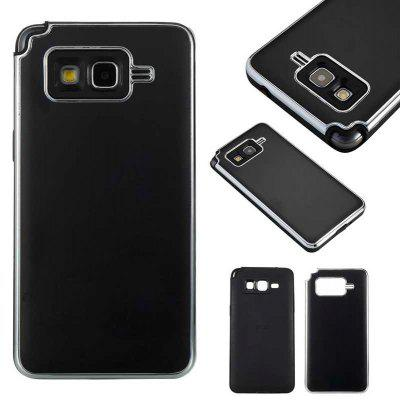 Two-In-One Tpu + Aluminum Alloy Plating Scrub Phone Case for Samsung Galaxy Grand Prime G530