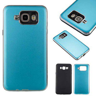 Two-In-One Tpu + Aluminum Alloy Plating Scrub Phone Case for Samsung Galaxy J7 2016