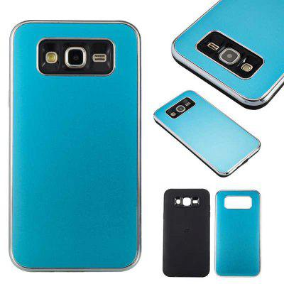 Two-In-One Tpu + Aluminum Alloy Plating Scrub Phone Case for Samsung Galaxy J7