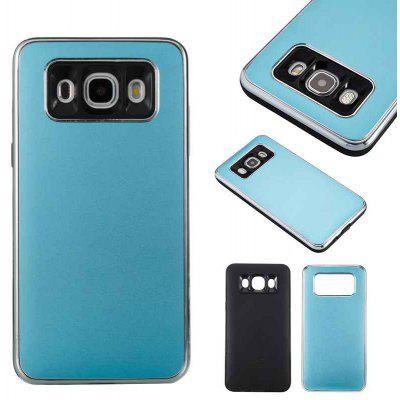 Two-In-One Tpu + Aluminum Alloy Plating Scrub Phone Case for Samsung Galaxy J5 2016