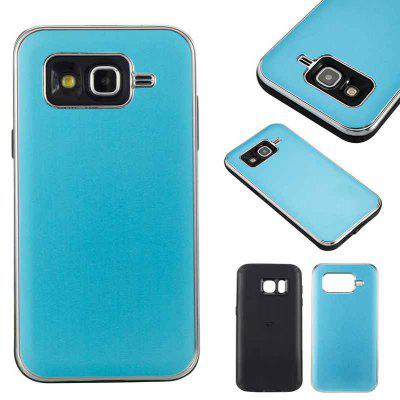 Two-In-One Tpu + Aluminum Alloy Plating Scrub Phone Case for Samsung Galaxy J5