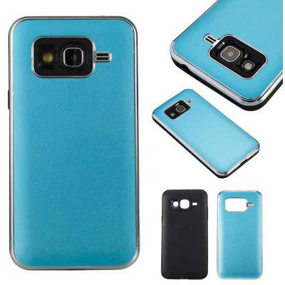Two-In-One Tpu + Aluminum Alloy Plating Scrub Phone Case for Samsung Galaxy J3 j3 2016