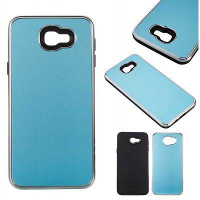Two-In-One Tpu + Aluminum Alloy Plating Scrub Phone Case for Samsung Galaxy J5 Prime