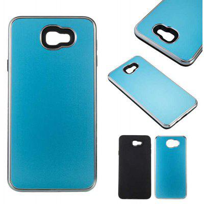 Two-In-One Tpu + Aluminum Alloy Plating Scrub Phone Case for Samsung Galaxy J7 Prime