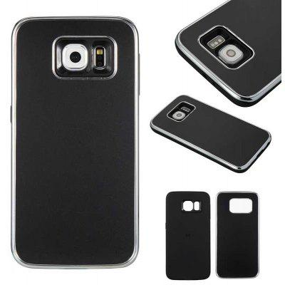 Two-In-One Tpu + Aluminum Alloy Plating Scrub Phone Case for Samsung Galaxy S6