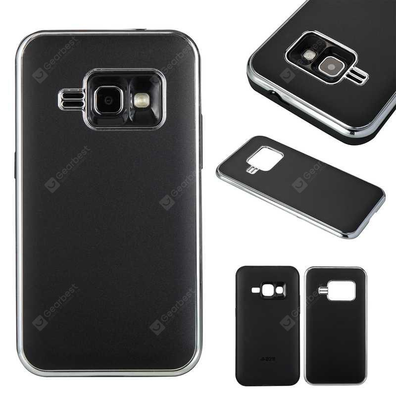 Two-In-One Tpu + Aluminum Alloy Plating Scrub Phone Case for Samsung Galaxy ( J1 2016  Amp 2  express 3