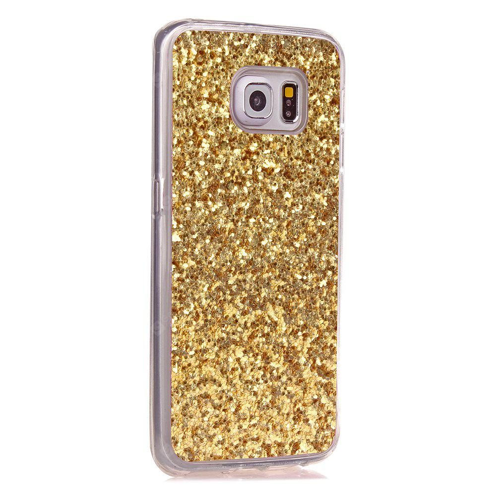 Yc Powder Coated Leather All Wrapped Tpu Mobile Phone Case for Samsung S6 Edg