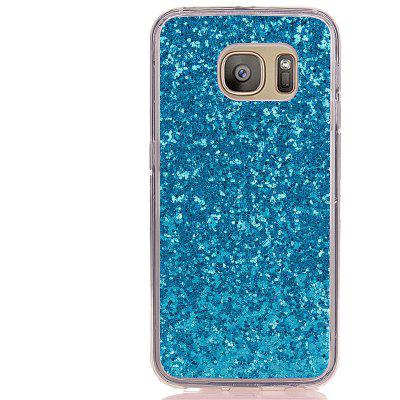 Yc poedercoating Leather Verpakt allen TPU Mobile Phone Case voor Samsung S7