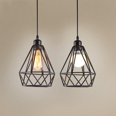 Buy BLACK CXYLight Modern American Style Retro Village Iron Pendant Light for Decoration Dd 010 AC 220 240V for $42.24 in GearBest store