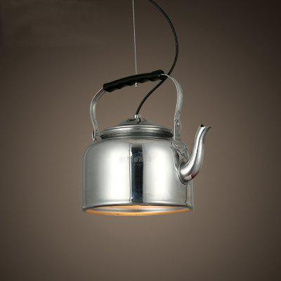 Buy SILVER CXYLight Modern American Style Retro Village Iron Pendant Lighting Restaurant Kitchen Living Room Coffee Shop Lamp Dd 019 AC 220 240V for $103.40 in GearBest store