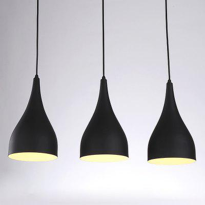 Buy BLACK CXYLight Modern American Style Retro Village Iron Pendant Lighting Restaurant Kitchen Living Room Coffee Shop Lamp Dd 021 AC 220 240V for $74.75 in GearBest store
