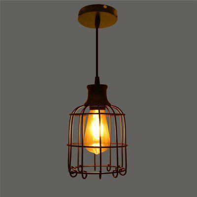 Buy BLACK CXYLight Modern American Style Retro Village Iron Pendant Lighting Restaurant Kitchen Living Room Coffee Shop Lamp Dd 027 AC 220 240V for $52.34 in GearBest store
