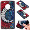 3D Embossed Color Pattern TPU Soft Back Case for Motorola Moto G5 Plus - BLUE AND RED