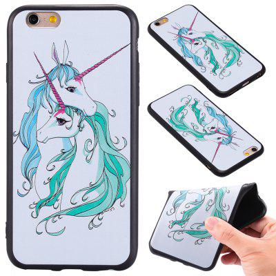 3D Embossed Color Pattern TPU Soft Back Case for iPhone 6S