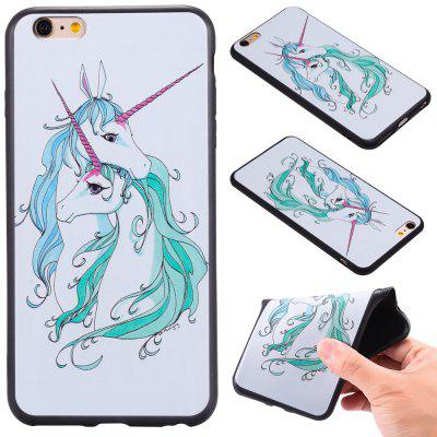 3D Embossed Color Pattern TPU Soft Back Case for iPhone 6S Plus