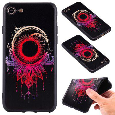 3D Embossed Color Pattern TPU Soft Back Case for iPhone 7