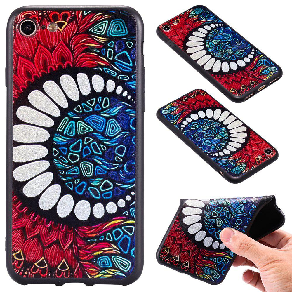 Carré En Relief En Relief 3d Tpu Soft Back Case Pour İphone 7