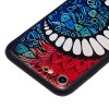 Carré En Relief En Relief 3d Tpu Soft Back Case Pour İphone 7 - BLEU ET ROUGE