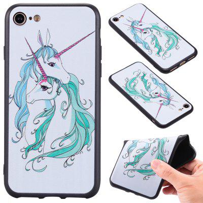 3D Embossed Color Pattern TPU Soft Back Case for iPhone 8