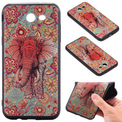 3D Embossed Color Pattern TPU Soft Back Case for Samsung Galaxy J3 2017 (America Edition)