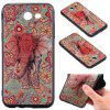 3D Embossed Color Pattern TPU Soft Back Case for Samsung Galaxy J3 2017 (America Edition) - RED AND GREEN