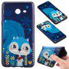 3D Embossed Color Pattern TPU Soft Back Case for Samsung Galaxy J5 2017 (America Edition) - BLUE