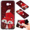 3D Embossed Color Pattern TPU Soft Back Case for Samsung Galaxy J5 Prime - RED