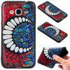 3D Embossed Color Pattern TPU Soft Back Case for Samsung Galaxy J3 2016 - BLUE AND RED